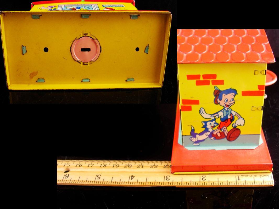 Vintage coin bank - 1950s 2nd National Donald duck mechanical bank - tin toy - cartoon collectible