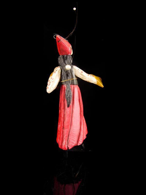House of Hatten nymph Ornament / Whimsical ballerina folk art doll - garden fairy stocking stuffer