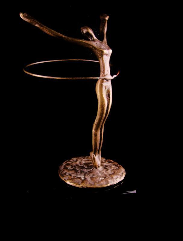 Mid Century modern nude sculpture - art deco bronze Statue - hula art figure - erotic art - dancer ballet