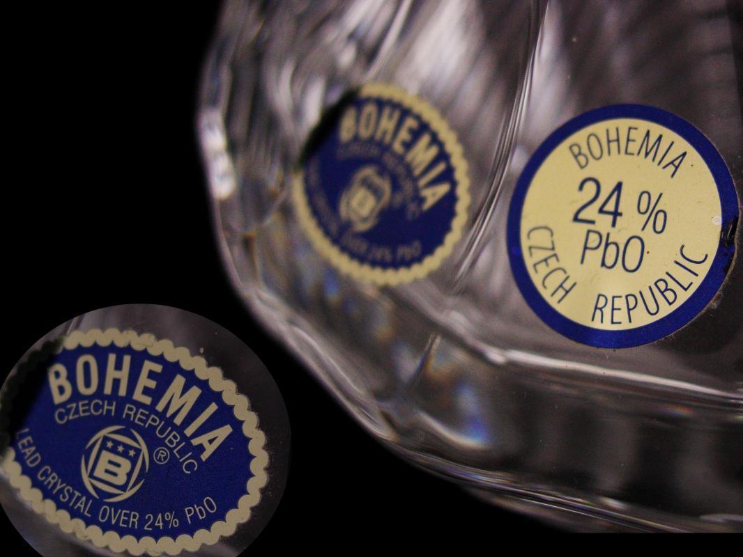 Vintage heavy crystal bottle - Bohemia crystal Whiskey Decanter - wedding gift - czech republic - Anniversary gift - Scotch Bourbon Sherry