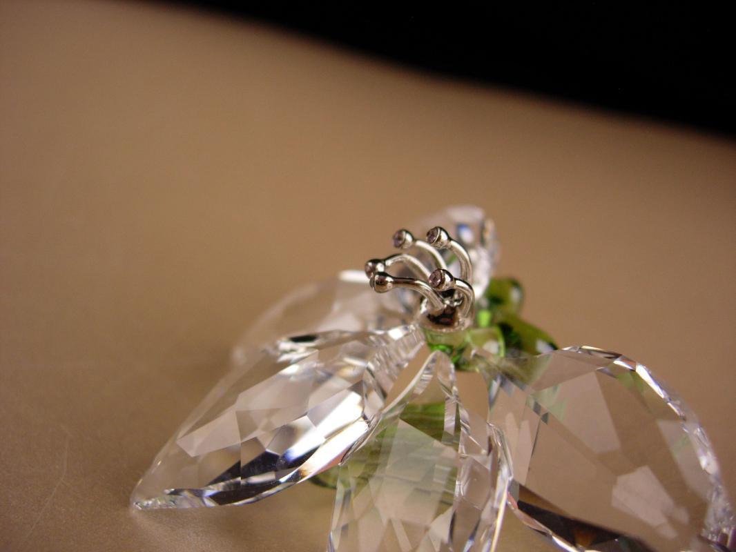 Beautiful Swarovski Jasmine flower - original box - Sweetheart gift - gardener flower gift - anniversary gift