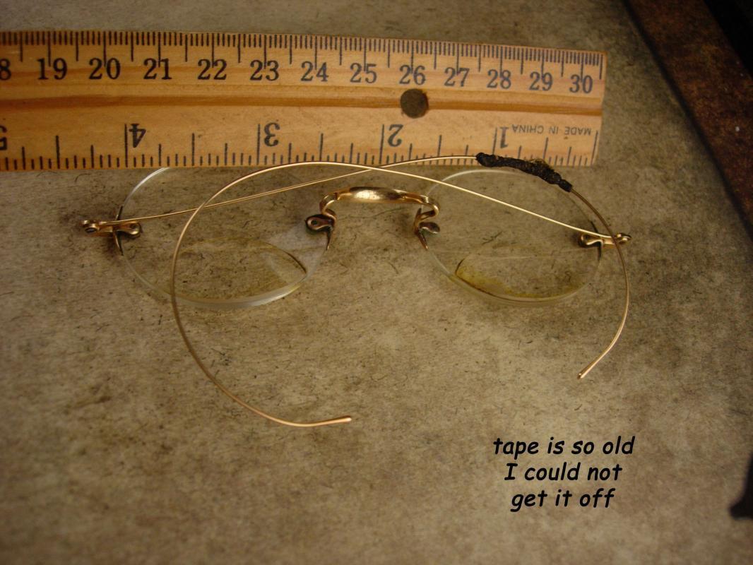 Antique 14kt gold folding spectacles - Victorian eyeglasses - Bifocal prescription - wire rim eye glasses