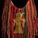 Exotic Goddess fringe necklace - Egyptian beaded tassel jewelry - tribal jewelry - hippie necklace - Bird God pendant