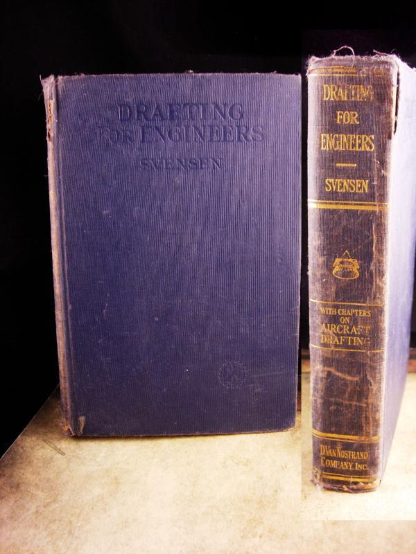 Vintage 1941 drafting for Engineers - Aircraft drafting - hardback Svenson - Engineering gift - architect gift -  gift for boss