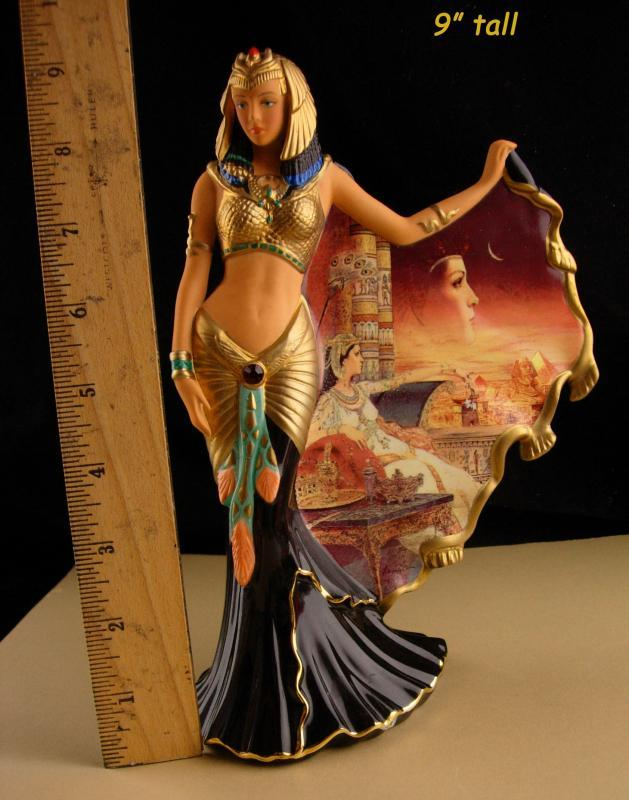 Cleopatra Statue - Queen of the Nile figurine - Limited edition - Bradford Exchange - Goddess statue gift - Handpainted exotic egypt queen