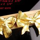 Two Couture statement big bow brooch - red rhinestone pin - signed enamel joan Rivers brooch - Anniversary gift -  Mother of the bride gift