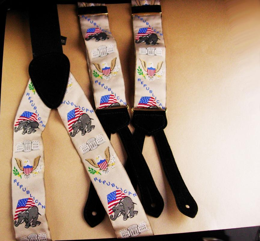 Elephant suspenders - State of braces - Patriotic mens gift - republican seal of United states - Wilson, Call & Mather