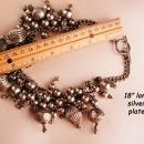 Tribal choker - large heavy Hippie style - big charm necklace -  indian design - bohemian necklace