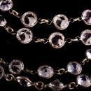 1920s LONG  sterling Art deco necklace - 32