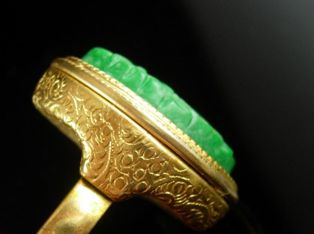 Vintage Perfume Ring Carved Bird of paradise secret locket compartment SIZE 7 to 9 adjustable