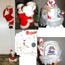 1996 Climbing Santa Musical vintage animated 25 songs Original box Christmas Decoration Polar bear
