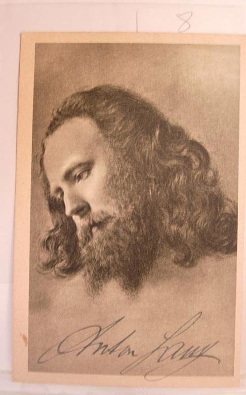 Jesus Postcard Ethnic people an Artist drawing of Jesus Signed by Anton Lang