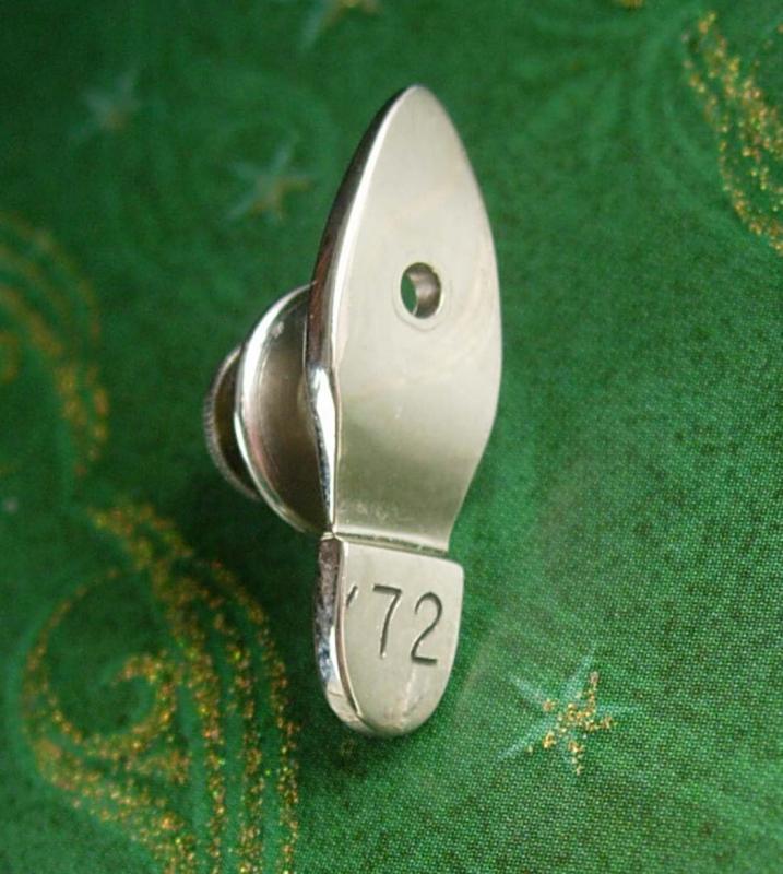 Sterling Shoe Sole Maker Tie Tack Vintage Silver Signed Prototype Men's Tie Accessory