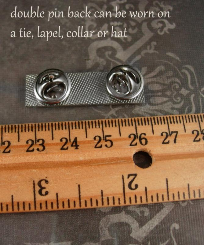 Vintage ROLLS ROYCE Tie tack collar or hat pin lapel Badge silver collectible Touring Automobile owner Car accessory