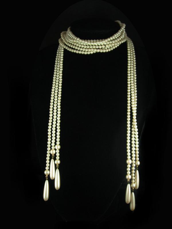Vintage Flapper Pearl necklace 41