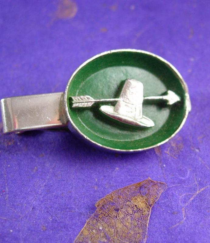 Green Irish Tie Clip Vintage  Leprechaun: Origin Hat Men's St.Patricks Day silver Tie Pilgrim thanksgiving Clothing Tie bar
