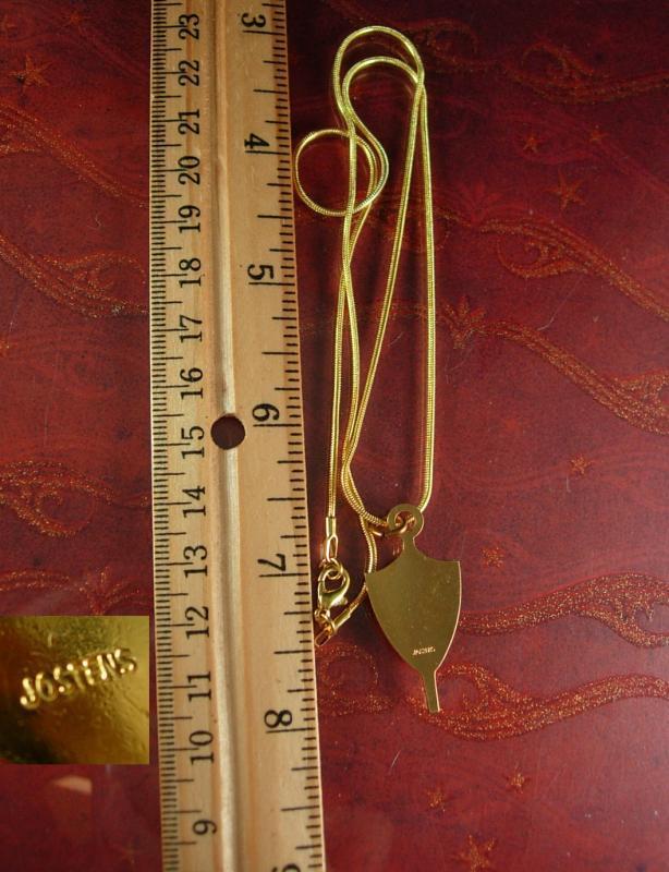 1985 High School Key fob Pendant necklace Vintage College Class Senion Graduation  Fraternity Key pendant Jewelry Letter B Jostens