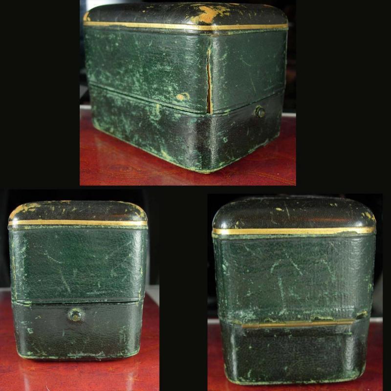 Antique TIFFANY bracelet Box / Watch case / hard shell pin closure / Union Square NEW York / silk lined purple velvet insert / vintage box