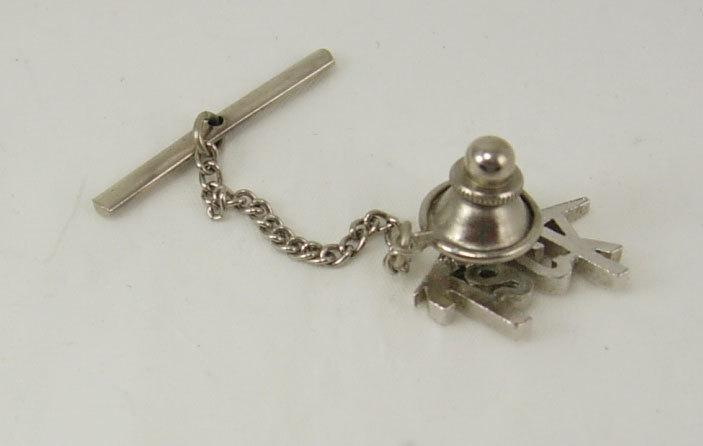 Vintage Silvertone Jack Tie Tack  Birthday Fathers Day Retirement Signed Swank designer cravat holder silver mens jewellery personalized