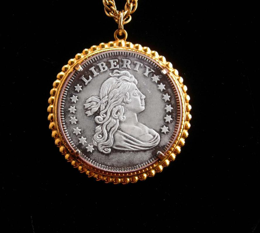 Liberty Half Dollar / coin necklace / 999 silver / Collectors Gift / womens jewelry / mens novelty jewelry/ 22