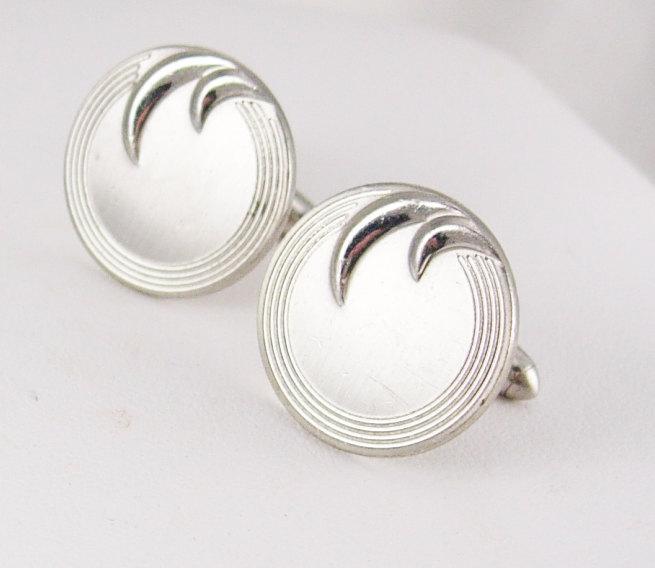 Swank Deco Vintage Cufflinks Wave Design business wedding anniversary
