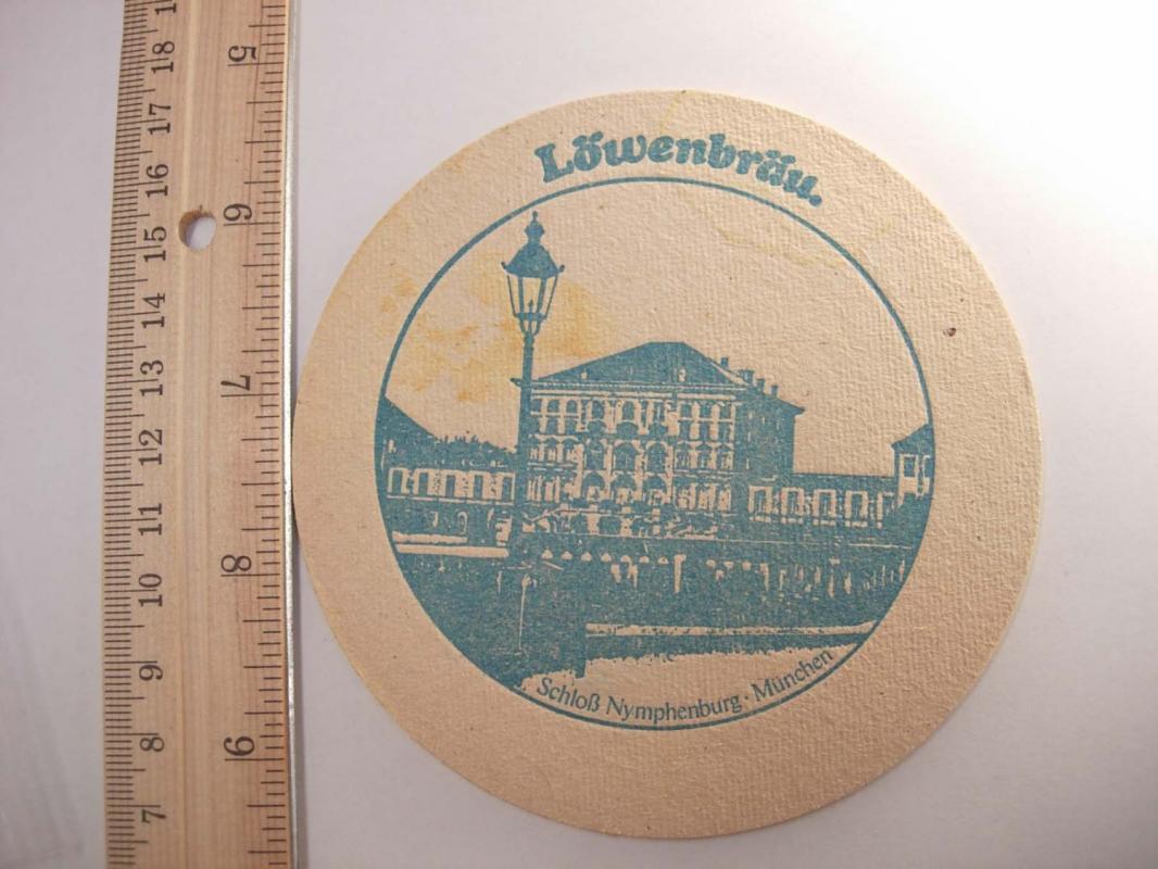 Vintage Lowenbrau Bier Coaster Munchen Germany Deustch Collectors