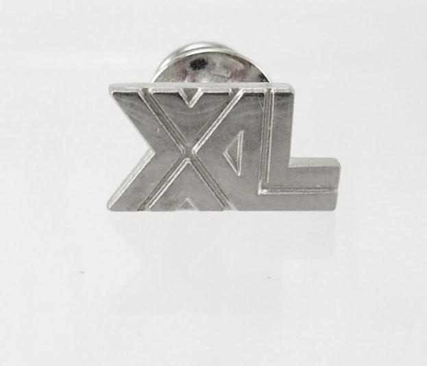 Vintage XL tie pin insignia for XL group in Ireland XL insurance reinsurance lapel pin business birthday silver tie tack