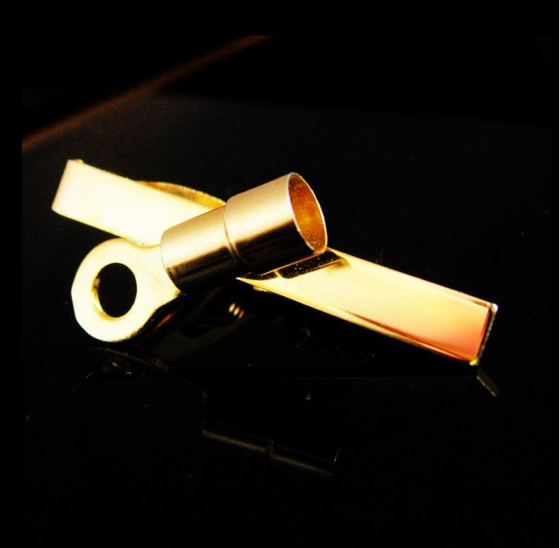 Electrician Tie clip Electrical Wire Connector  gold tie bar Vintage Industrial gift Men's Novelty techie geek gift stocking stuffer