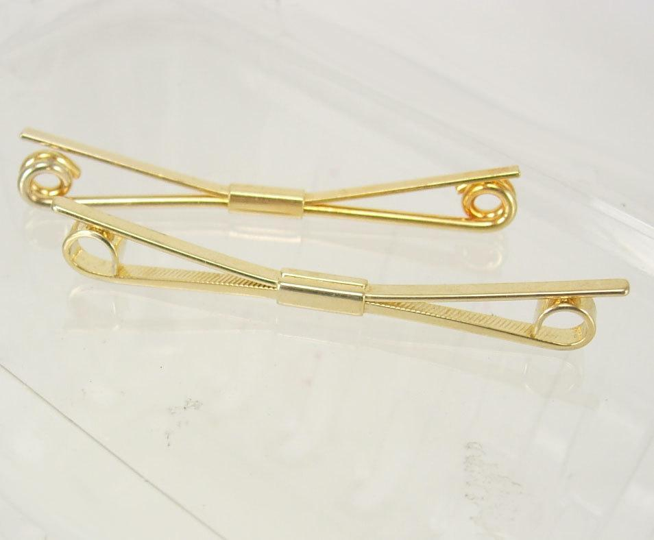 Vintage Gold Color Collar Pin Bars Birthday Wedding Business