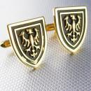 Vintage Swank Shield eagle cufflinks medieval enamel gold renaissance wedding groom formal wear gift cuff links special occassion