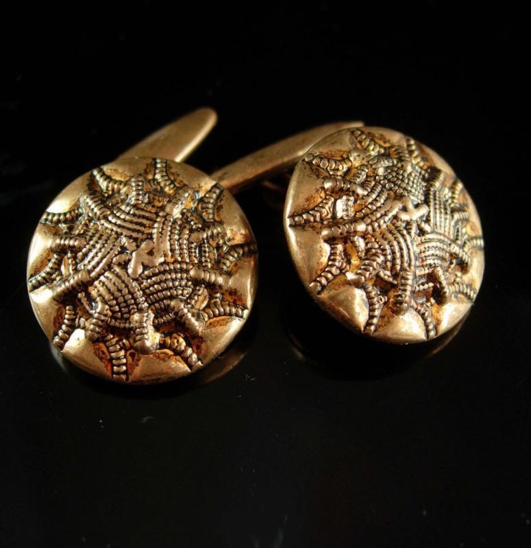 Antique cufflinks Gothic Spider cufflinks Web Cufflinks Button cufflinks Victorian cufflinks Men's Clothing Accessories