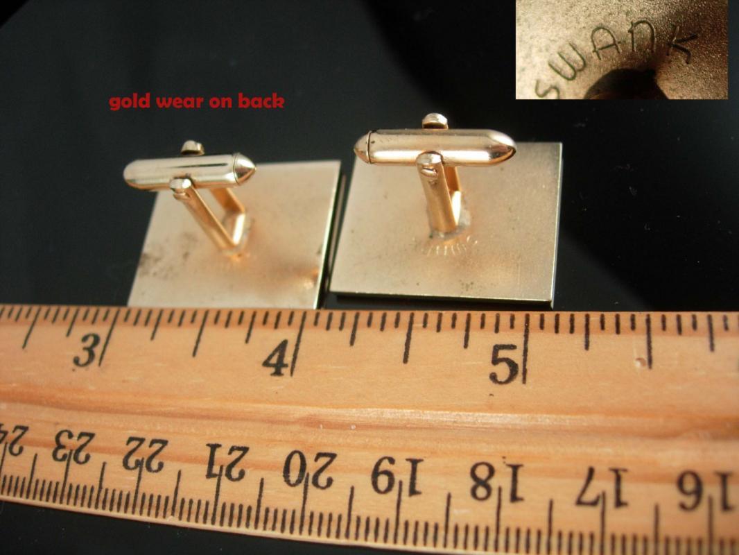 Vintage cufflinks Surfer cufflinks Gold cufflinks Hawaiian cufflinks hawaii Cufflinks swank jewelry groomsman gift groom cufflinks
