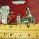 Vintage Western Buckle Cufflinks Silver cowboy eternal link Wedding groom wrap cuff accessory formal wear gift suit jewelry Pioneer designer