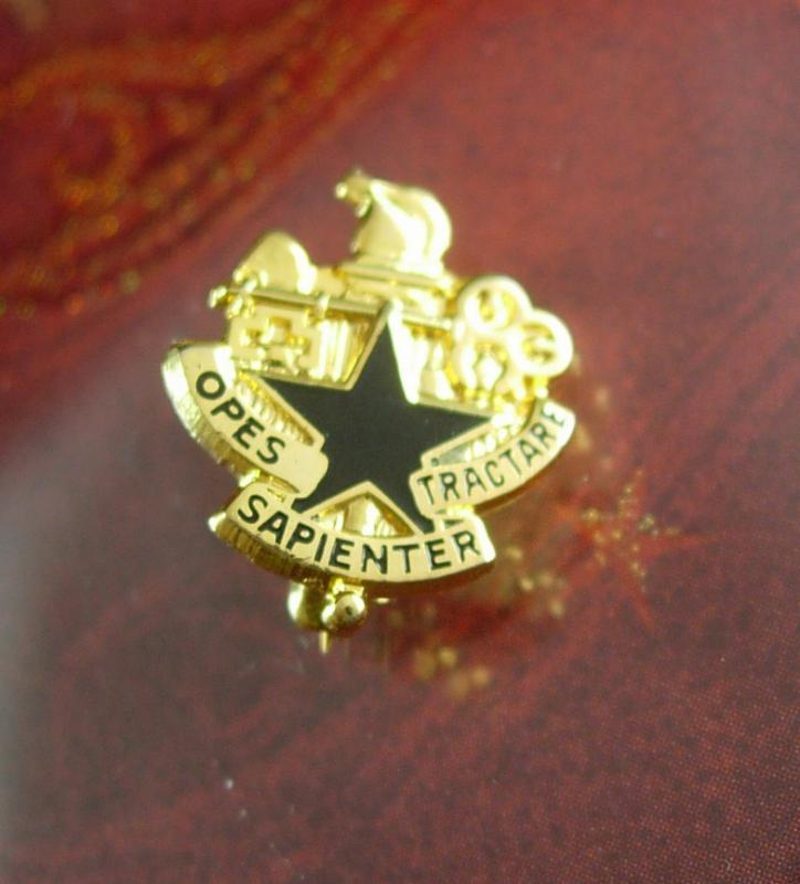 Military cufflinks Brooch pin Army Vintage Cufflinks Military jewelry Army cufflinks Logistics University Opes Sapienter Tractare Officer
