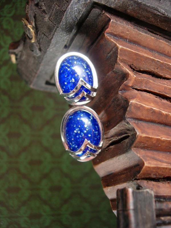 Exquisite Blue FOIL Cufflinks Vintage Star Trek Sci Fi Designer Swank Men's Women's Decorative Cuff Accessory