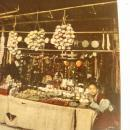 Vintage China Bazaar with Two Young People Colorized Postcard