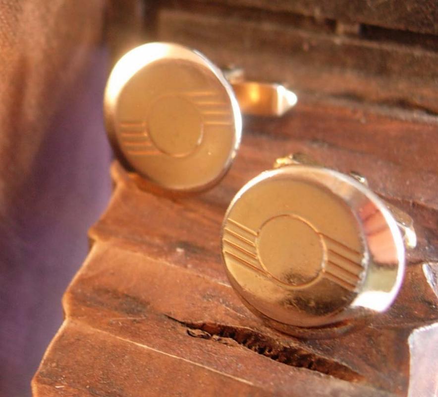 Swank Art Deco Vintage Cufflinks Unisex Cuff Accessory