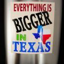 HUGE 1/2 gallon Flask Everything is bigger in texas  Vintage whiskey lover 6 4 oz Black  stainless groomsman novelty gag gift
