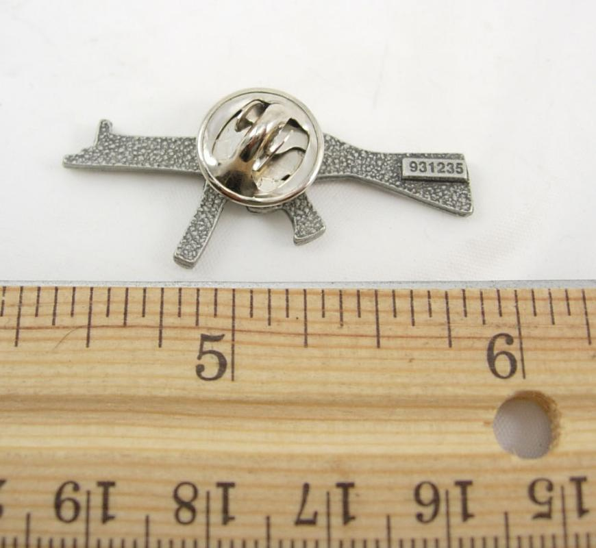 Vintage Assault Rifle Tie Tack Lapel Pin Machine Gun Birthday Army Veteran Fathers Day mens tac lapel pin accessory cool mens gift