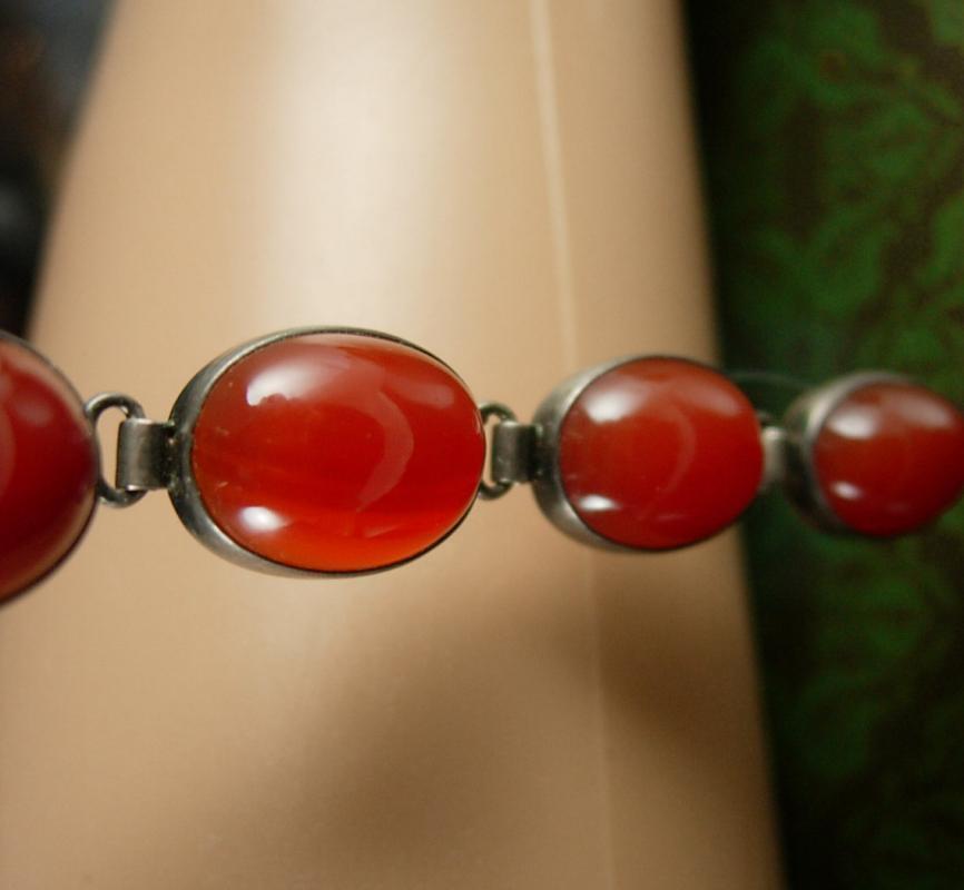 Vintage Carnelian sterling bracelet Art Deco Silver graduated stones ladies womens jewelry Leo Virgo birthday energy stone