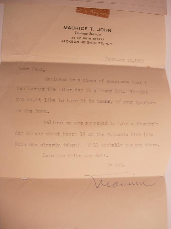Victorian Original letter and Vintage Antique Worlds Columbian Exposition USS Illinios Postcard 1893