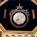 Framed Victorian plaque Picture Porcelain cameo Victorian Bisque Romantic engagement gift  Vintage Baroque gold Frame shadowbox under glass