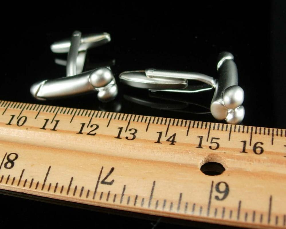 Artistic Cuff links Male Figural NUDE Cufflinks Gay Interest Mature erotic sculpture Phallus novelty Silver phallic bachelor party gift