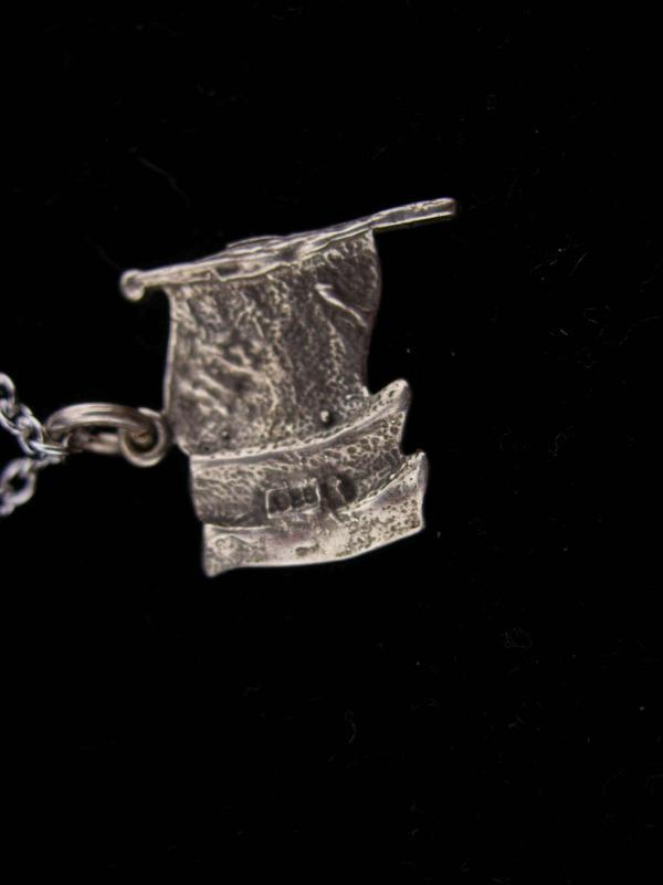 Vintage Sterling Flag pendant / Military necklace / american Flag charm / Patriotic gift / Veteran jewelry /  gift for mom or wife