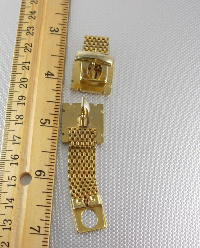 Vintage IOF Mesh Cufflinks Independent Order Foresters British Friendly Society gold fraternal jewellery
