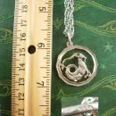 Sterling Capricorn Necklace Vintage Pendant 18 Inch Chain Hallmark Devil symbol Wicca Wiccan Jewelry December January Birthday gift