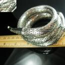 Whiting Davis Snake Bracelet 3 coil silver clamper coiled Cleopatra cuff vintage serpent jewelry signed Great condition