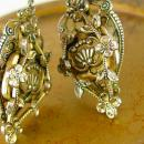 Victorian Earrings chandelier Baroque Screw on Birthday Holiday