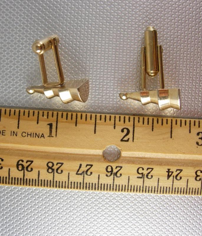 Unusual astronaut Sputnik Cufflinks Vintage Gold Machinist Lathe Steampunk Industrial Nozzle Tradesmen Artismia