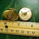 Vintage Royal coat of Arms Cufflinks HUGE button crest lion cuff links military Swank heraldry wedding jewelry